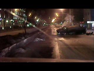 Ночное ДТП в Калуге на ул. Кирова 19.04.13
